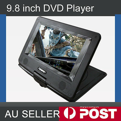 "9.8"" Portable DVD Player 270°,Swivel,300LCD Game, Video, Photo, USB SD, In Car"