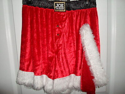Joe Boxer Mens Santa Shorts Hat Red White Christmas Holiday Shorts M Xl Xxl  Nwot 96fe37afb