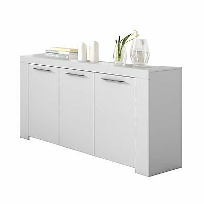 Aparador comedor moderno buffet salon Blanco Brillo