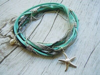 Starfish Anklet, Ankle Wrap, Ankle Bracelet, Something Blue, Beach Jewellery