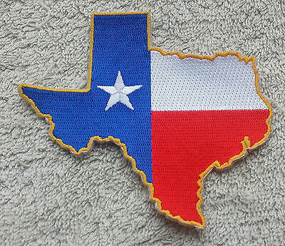 TEXAS STATE FLAG MAP PATCH United States of America Embroidered Badge 6x9cm USA