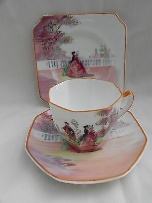Royal Doulton SERIES WARE OLD ENGLISH GARDENS,CUP TRIO H3873 Louise Irvine No 3
