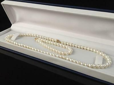 New 14Ct Gold Genuine Cultured Pearl Set For Child 15 To 19 Inches - 36