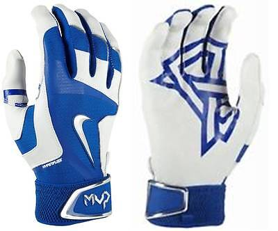 NEW Nike Adult MVP ELITE PRO 2 Batting Gloves SMALL BLUE GRAY Premium Leather