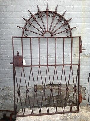 Unique Victorian Antique Cast Iron Garden Gate Reconditioned Great Patina 19th C