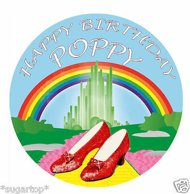 WIZARD OF OZ Personalised Edible Cake Topper ICING /RICE PAPER Birthday All Ages