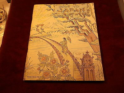 """***rare """"restricted"""" Occupation Book """"guide To Japan"""" From October 1945, Us Navy"""