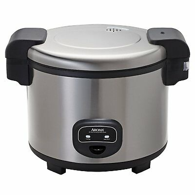 Aroma 60-Cup Stainless Steel Commercial Electric Rice Cooker, ARC-1130S New