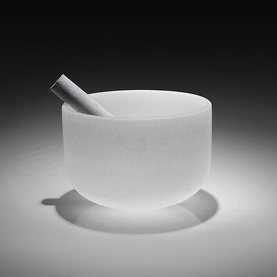 "Transparent 8"" F Tuned Crystal Tones Singing Bowl Music f Peace and Meditati"