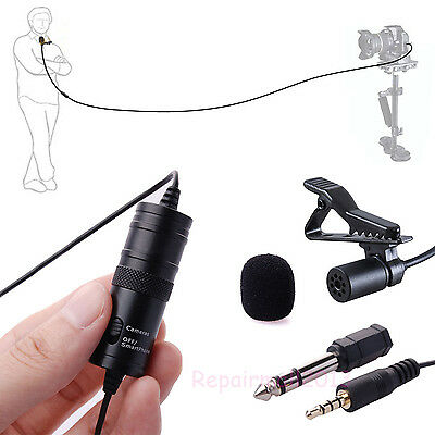 For BY-M1 Camera Lavalier Condenser Microphone for Canon iPhone DSLR Camcorder