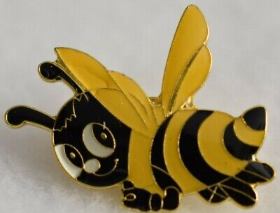BUMBLE BEE lapel pin Smiley  Yellow/black Cute Bee!!Nice gift idea New