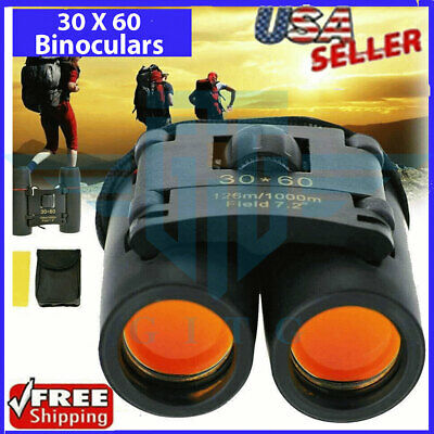 Binoculars 30x60 Zoom Outdoor Travel Compact Folding Telescope Hunting Day/Night