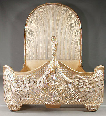 H-Gm-71 Very decorative Swan bed in the Empire style