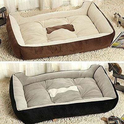 Luxury Washable Pet Dog Puppy Cat Bed Cushion Soft Warm Basket Comfy S-Xl Size