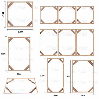 New Wooden Wood Frames Set for Canvas Unframed Print Wall Art Painting Picture