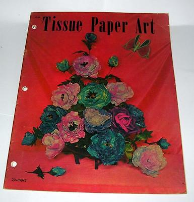SCARCE SHARON PEARSON 1967 CRAFT BOOKLET Tissue Paper Art DECORATIONS, FLOWERS