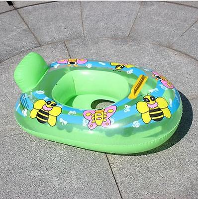 Kids Baby Inflatable Pool Float Seat Boat Swim Handles Toddler Safety Aid