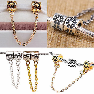 NT Silver Plated European Safety Chain Charms Bead For Snake Bracelet Chain
