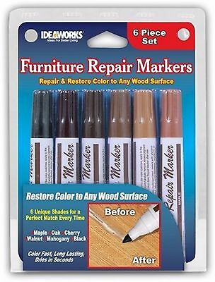 Set of 6 Assorted Furniture Repair Markers Stain Scratch Floor Pens by Jobar AOI