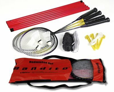 Badminton Set for 4 Player with net and accessories, new