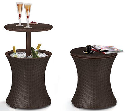 Outdoor Drinks Cooler Rattan Table Party BBQ Garden Conservatory Patio Furniture