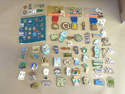 87 pieces LIONS CLUB pins..from 1970's - 2000's..+ 3 DELEGATE pins..GREAT LOT !!