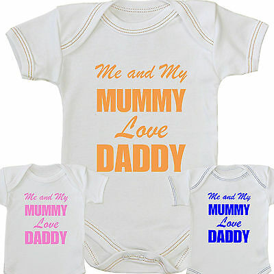 BABYPREM Baby Clothes ME & MUMMY LOVE DADDY Bodysuit Vest Shower Party Gifts