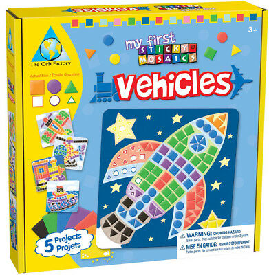 Orb Factory 62248 - My First Sticky Mosaics - Vehicles - Fahrzeuge