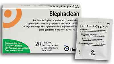 60 BLEPHACLEAN Sterile Eyelid Wipes For BLEPHARITIS FREEPOST