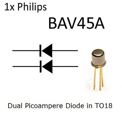 1x Philips Semiconductor BAV45A Picoampere Dual Diode TO18