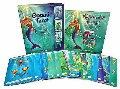 Oceanic Tarot Deck Cards Collection Box Gift Set Mind Body Spirit Mermen Mermaid