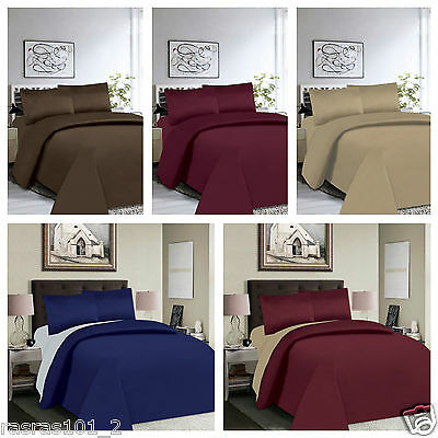 4PC Bedding Set, Duvet Cover, Pillowcase & Fitted Sheets Single Double King Size