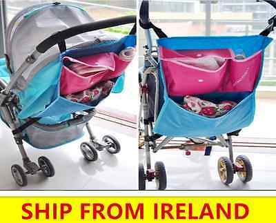 Kids Stroller Organizer Basket Baby Pushchair Portable Storage Bag Pram car back