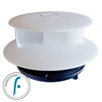 Flettner TCX-2 Van Wind Driven Rotating Roof Vent Narrow Base In White Rotary