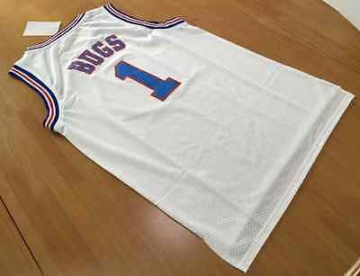 Tune Squad Jersey Bugs Bunny 1 White Space Jam Movie Basketball  Shirt New