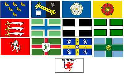 English Cricket County Flags - 5Ft X 3Ft Flags - Various English Counties