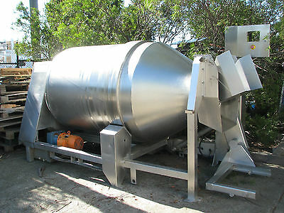 Large Industrial Heavy Duty Stainless Steel Drum Tumbler Spiral Mixer