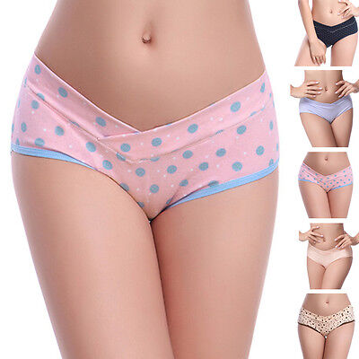 Pregnant Women Lingerie Cotton Underwear Knickers Solid Seamless Stretch Briefs