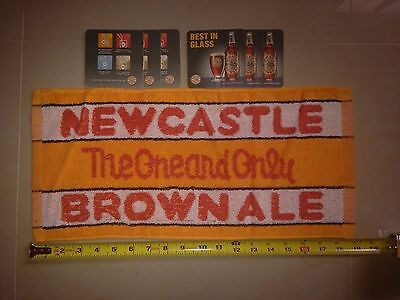 Newcastle Brown Ale Cotton Bar Towel and Coasters