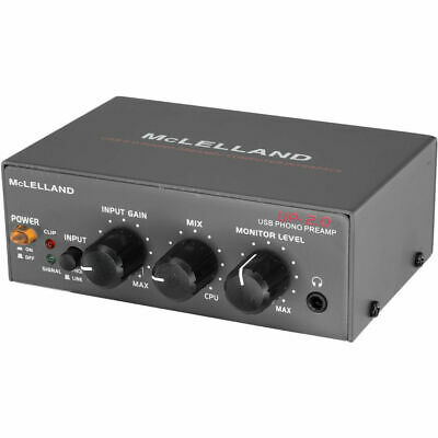 Mclelland Phono Preamp WithLine In Usb Rip and Gain Control RIAA Standard