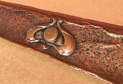 ANTIQUE Copper Hammered Arts & Crafts Fireplace Fender Mission Craftsman Nouveau