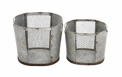 Benzara Amazing Styled Attractive Metal Wire Basket 49159 NEW