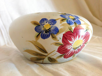 Handpainted Radford Pottery Posy Bowl, Vase with Florl Decoration