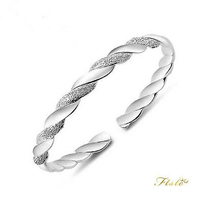 925 Sterling Silver LOVE Interwo Bracelet Charm Jewellery Women Ladies Gifts UK