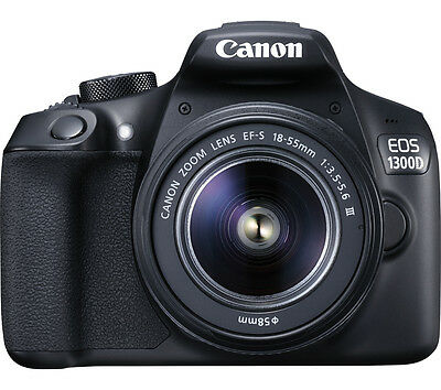 CANON EOS 1300D DSLR Camera with 18-55 mm f/3.5-f/5.6 Zoom Lens Black