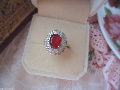 Antique vintage Sterling Silver oval shaped Ring size 8 or Q