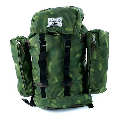 Poler Stuff Retro Rucksack Backpack Green Camo Rare Camping New Free Delivery