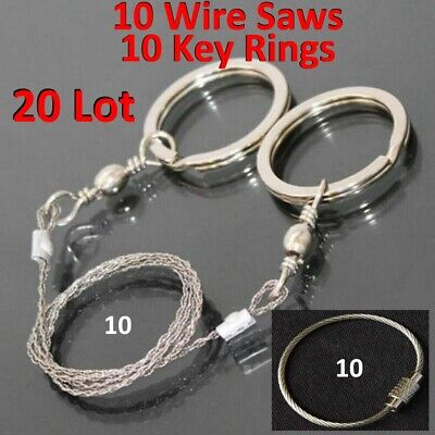 Outdoor Hiking Camping Stainless Steel Wire Saw Exigent Travel Survival Gear