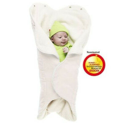 Wallaboo Wrapper Nore, Luxurious Blanket Perfect For Cold Weather, Ecru.