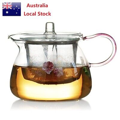 All in one glass tea coffee maker mug pot with filter infuser straight 600ml aud - Japanese teapot with infuser ...